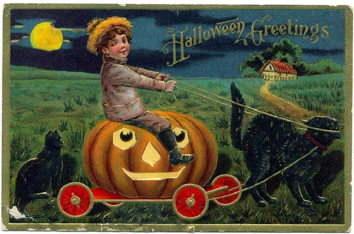 Halloween    11 Antique Postcards