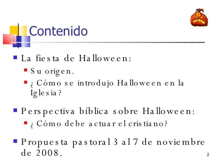 HALLOWEEN Y SU TRASFONDO Slide 2