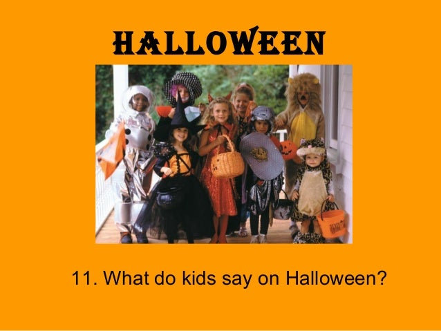 what do kids say on halloween - Halloween Quiz For Kids