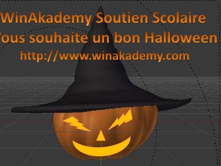 WinAkademy Soutien Scolaire vous souhaite un bon Halloween