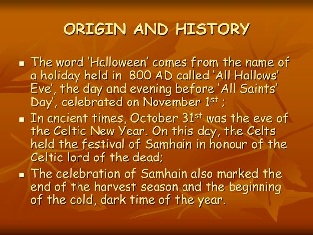origin and history the - The Meaning Behind Halloween