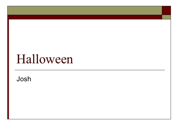 Halloween Josh