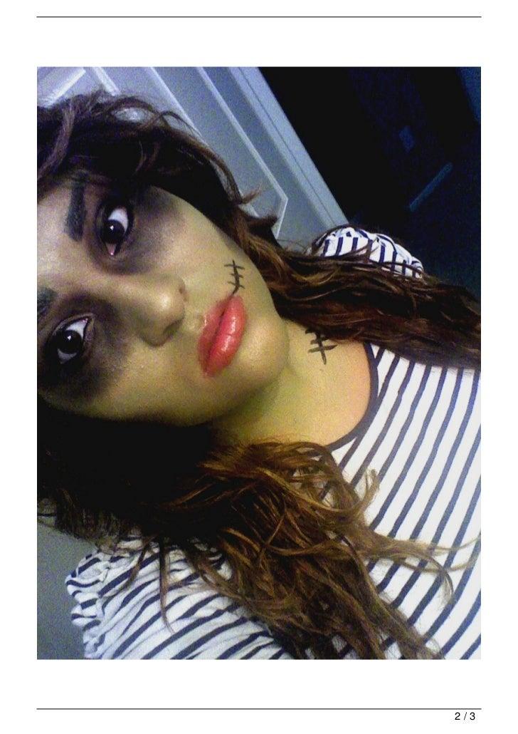 Halloween Makeup Look: Zombie Cheerleader