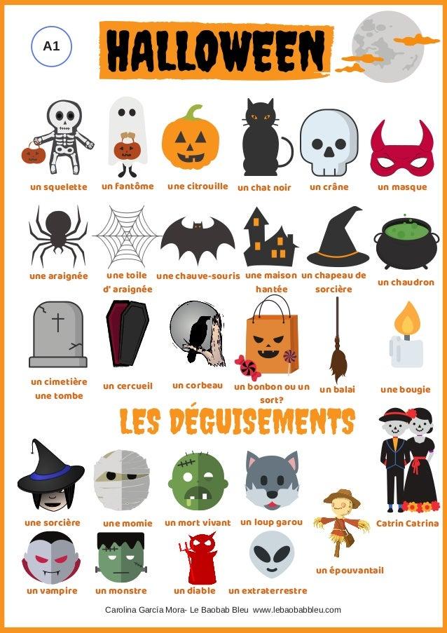 un squelette un fant�me une citrouille un chat noir un cr�ne une araign�e une toile d' araign�e une chauve-souris une mais...
