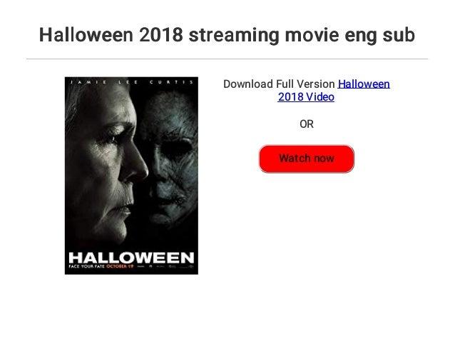 Halloween 2018 streaming movie eng sub