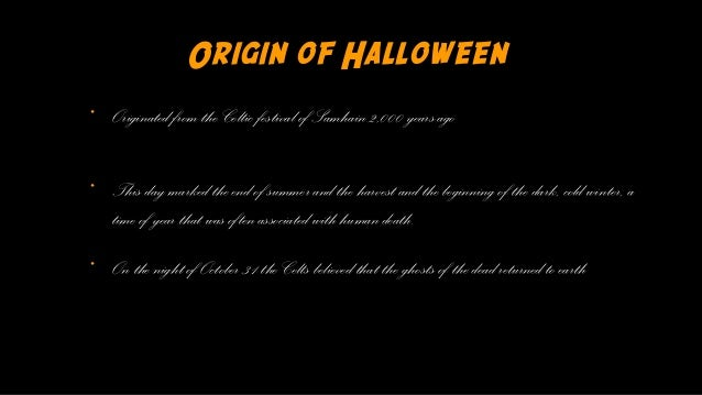 origin of halloween originated from - Where Halloween Originated From