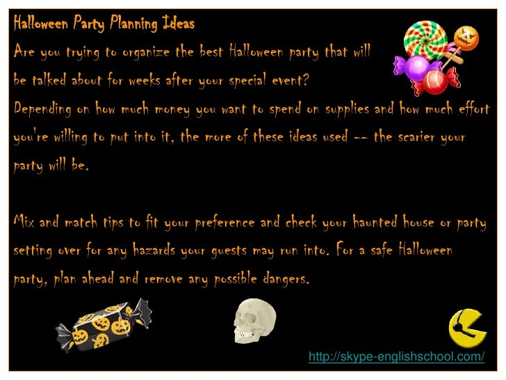 Halloween 6 (Planning A Party) Slide 2