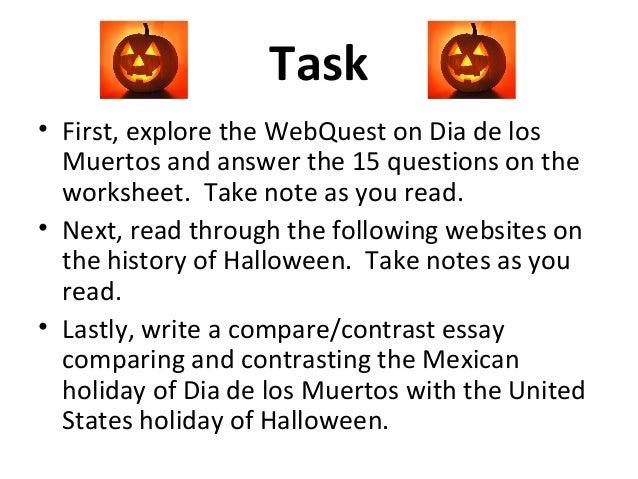 halloween compare contrast  dia de los muertos for grade 8 2