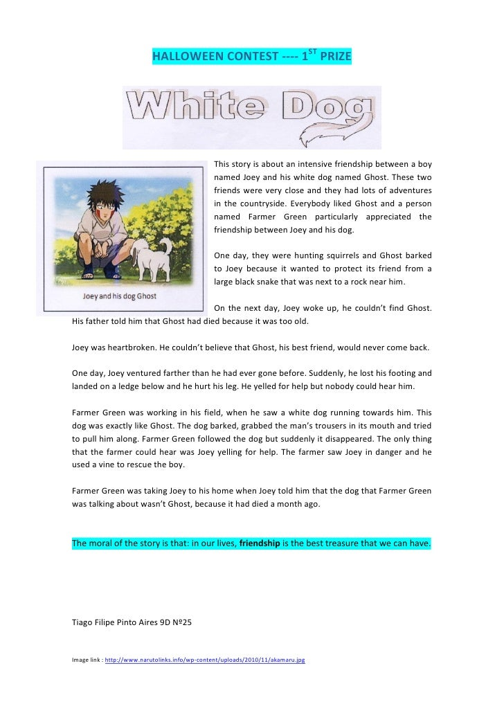 HALLOWEEN CONTEST ---- 1ST PRIZE                                                This story is about an intensive friendshi...