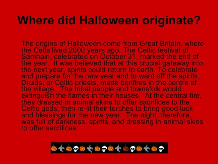 halloween facts 2 where did halloween originate