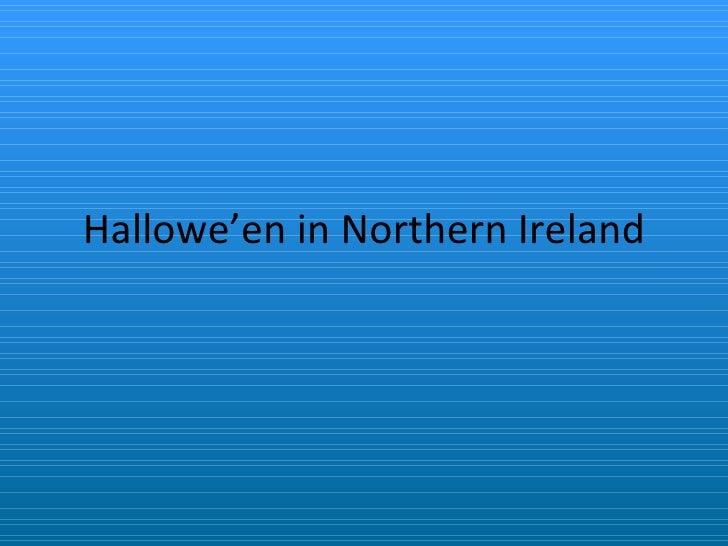 Hallowe'en in Northern Ireland