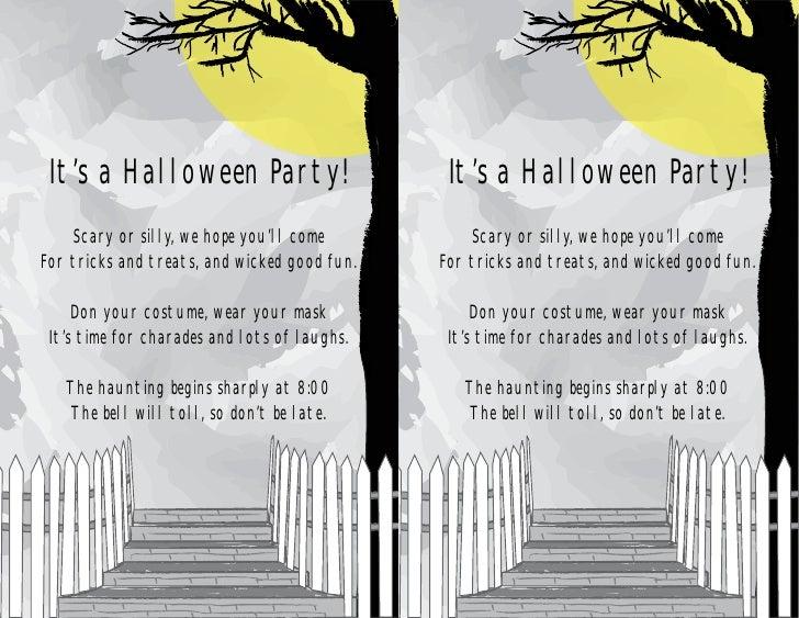 Halloween invitation halloween invitation its a halloween party its a halloween party scary or silly we hope stopboris Gallery