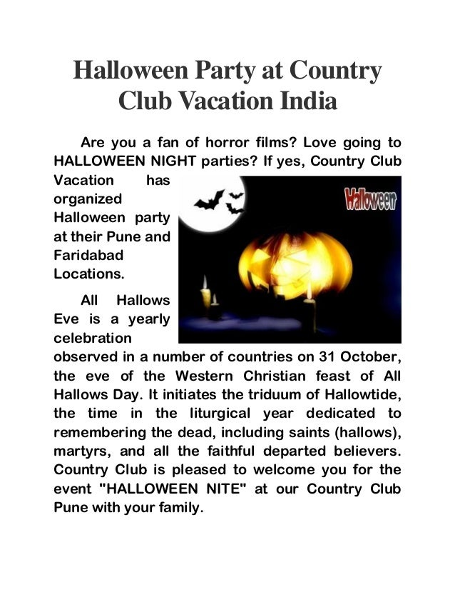 halloween party at country club vacation india are you a fan of horror films