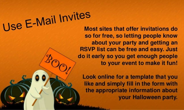 Halloween party how to organise one on budget Slide 2