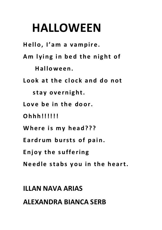 Halloween Poems 3rd