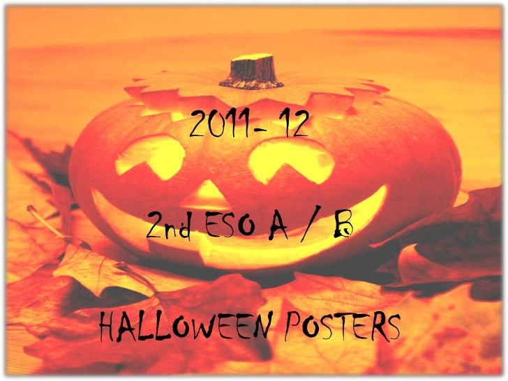2011- 12  2nd ESO A / BHALLOWEEN POSTERS