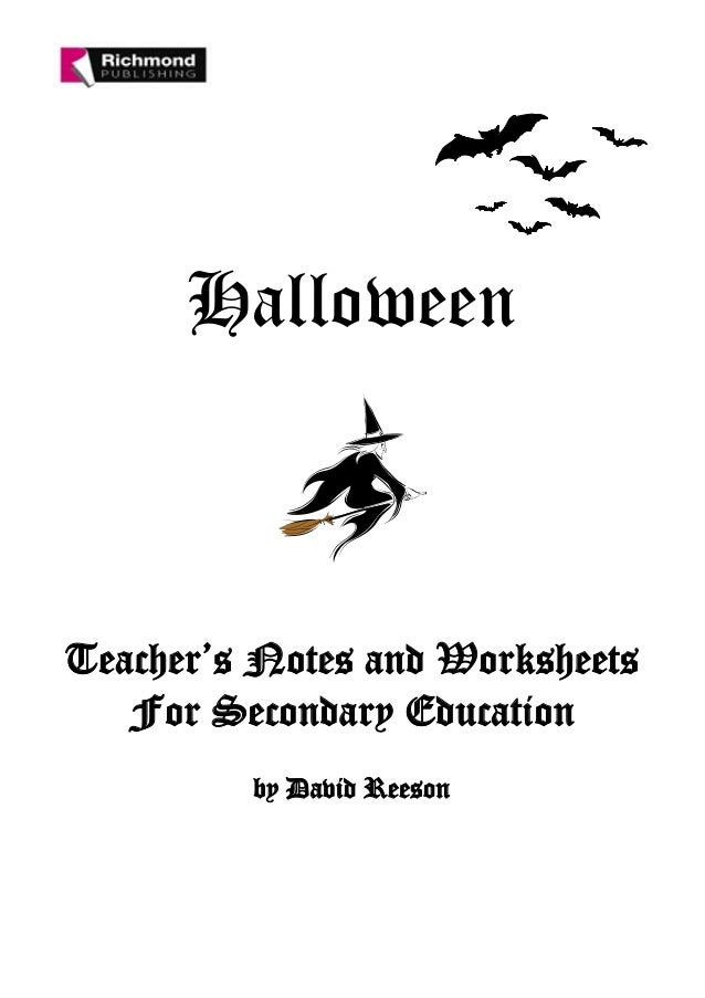 Halloween secondary worksheet