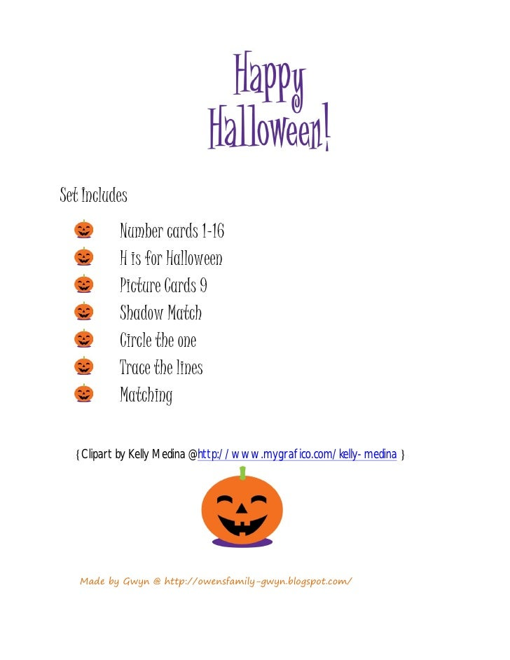 Set Includes          Number cards 1-16          H is for Halloween          Picture Cards 9          Shadow Match        ...