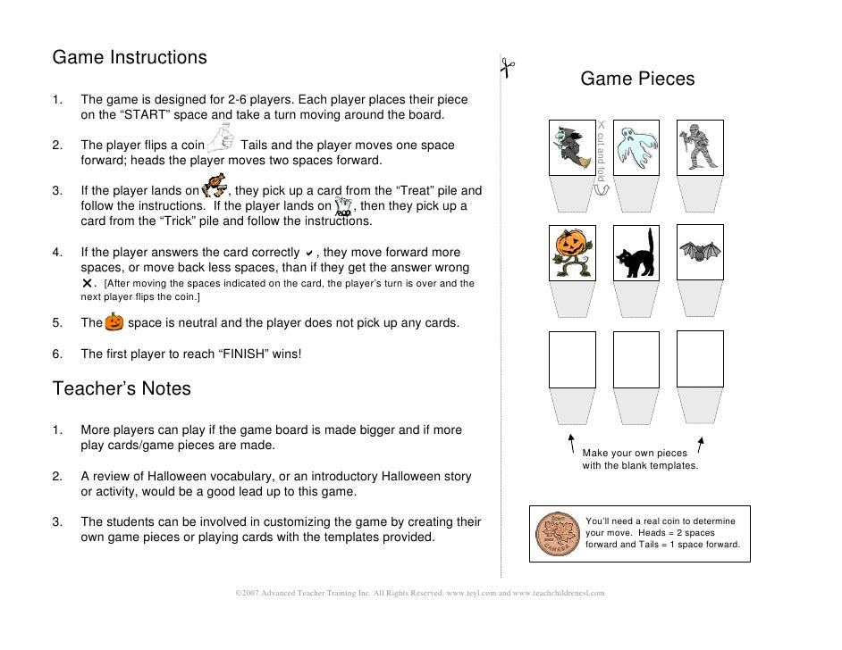 Fantastic Game Board Instructions Template Pictures - Resume Ideas ...