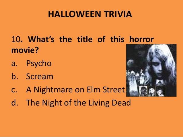 scary movie 21 halloween trivia 10 - Halloween Horror Movie Trivia