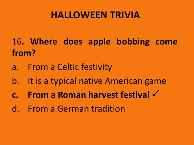 from a german tradition 34 halloween trivia 16 where does apple bobbing come - Where Does The Halloween Celebration Come From