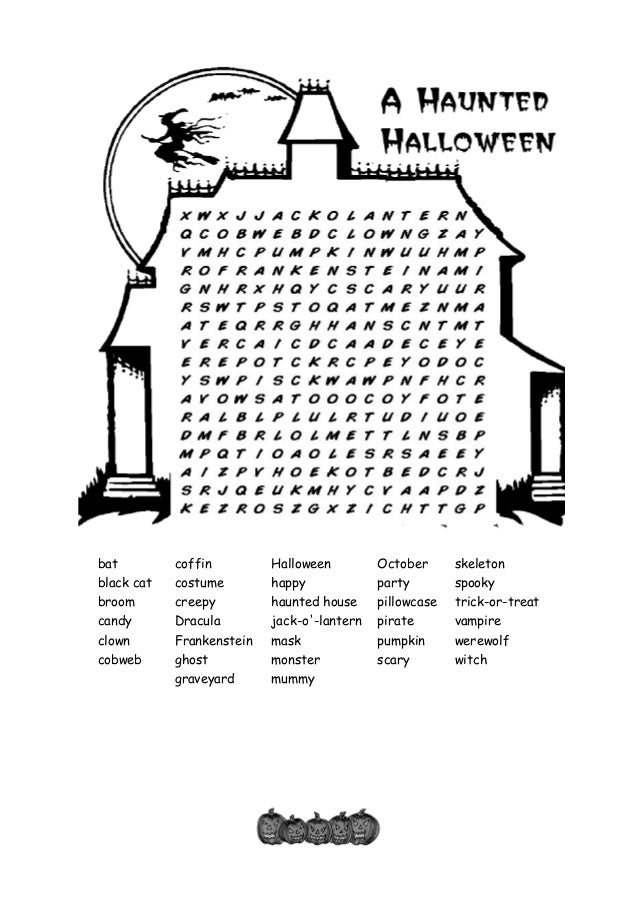 Halloween wordsearch blog