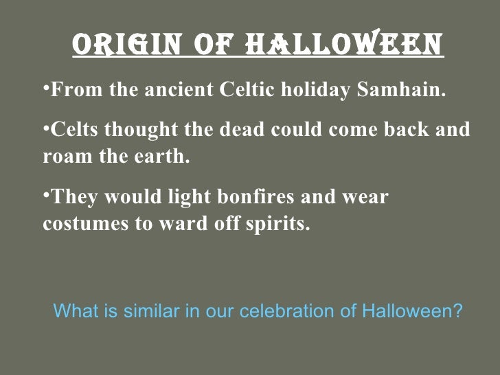 2 origin of halloween - The Meaning Behind Halloween