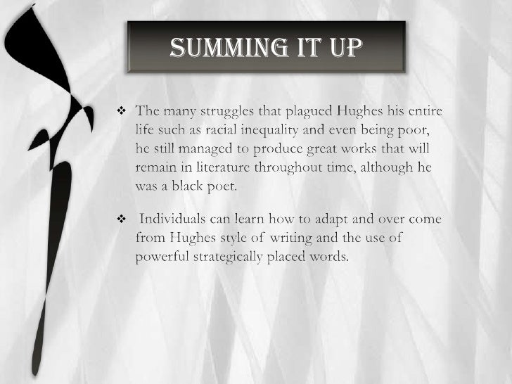 hughes poem about racial inequality