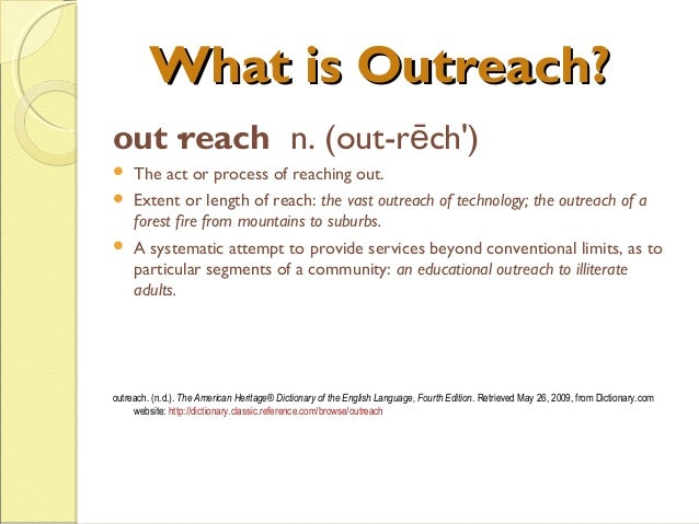 Reach out and Touch Slide 3