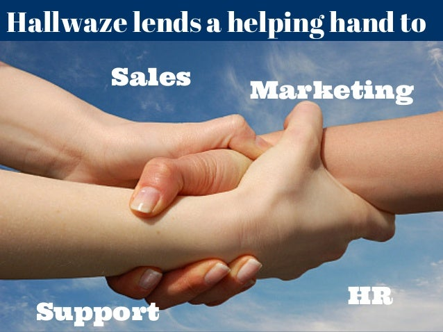 Hallwaze lends a helping hand to Sales Marketing HR Support