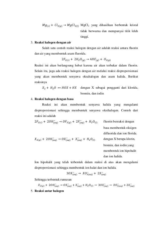 Halogen Fluorin Klorin Bromin Iodin Dan Astatin