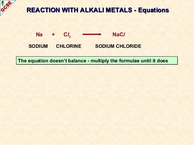 Halogens chlorine sodium chloride 28 reaction with alkali metals urtaz Image collections