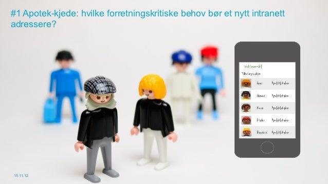 #1 Apotek-kjede: hvilke forretningskritiske behov bør et nytt intranettadressere?15.11.12
