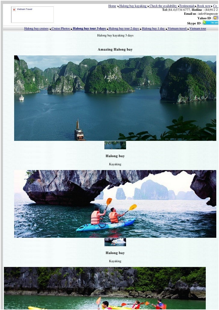 Home Halong bay kayaking Check the availability Testimonials Book now Co     Vietnam Travel                               ...