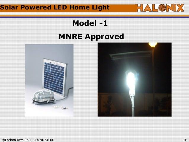 ... Light Model -1 MNRE Approved; 18. & Halonix ads presentation azcodes.com