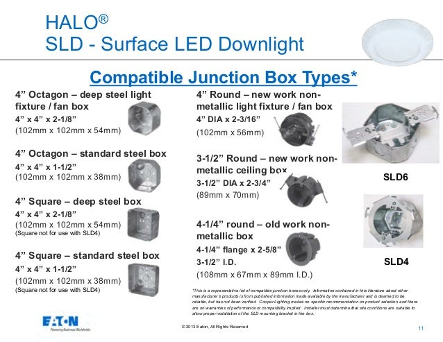 eatons cooper lighting business halo surface led downlight series overview 11 638?cb=1393857653 eaton's cooper lighting business halo surface led downlight series o downlighter junction box wiring diagram at soozxer.org