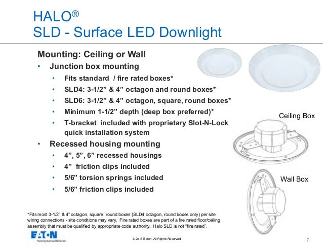 Eatons Cooper Lighting Business Halo Surface LED Downlight Series O