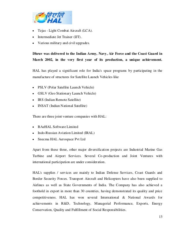 swot analysis of hindustan aeronautics limited Hindustan aeronautics limited (hal) was formed with the amalgamation of the  two companies  (v) swot analysis of hal (vi) give a brief.