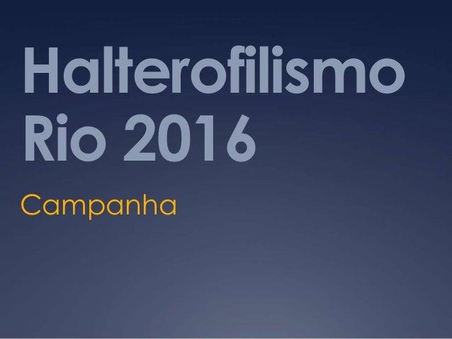 HalterofilismoRio 2016Campanha