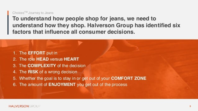 Halverson Group: How People Shop for Denim Slide 3