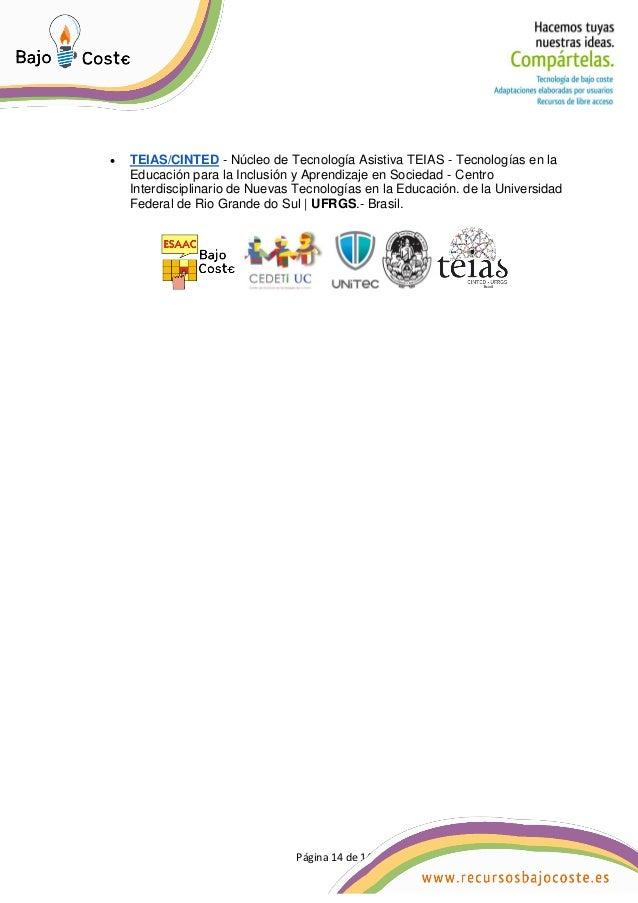 Página 14 de 14 Página 14 de 14  TEIAS/CINTED - Núcleo de Tecnología Asistiva TEIAS - Tecnologías en la Educación para la...