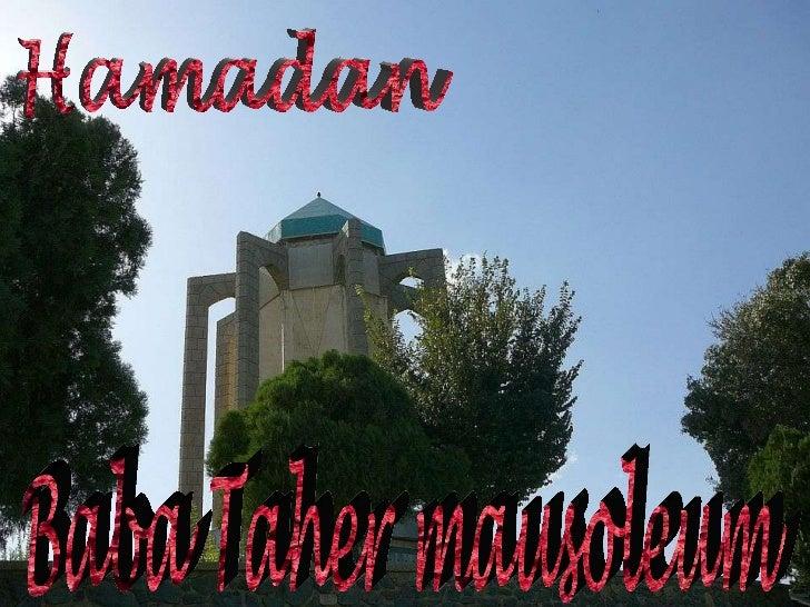 Baba Taher mausoleum Hamadan