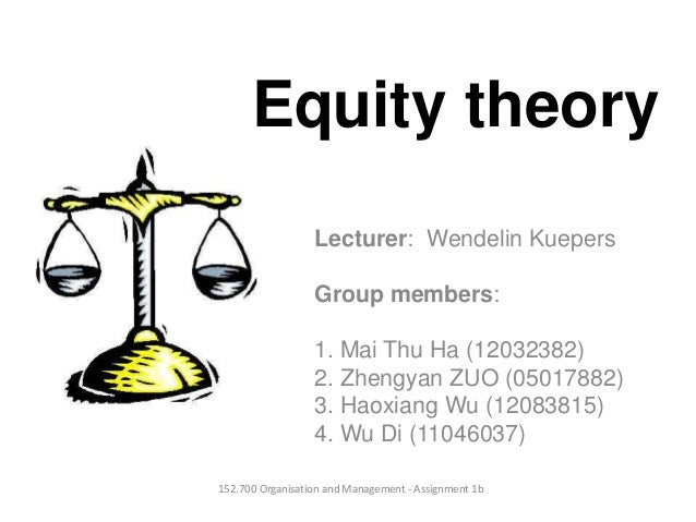Equity theoryLecturer: Wendelin KuepersGroup members:1. Mai Thu Ha (12032382)2. Zhengyan ZUO (05017882)3. Haoxiang Wu (120...