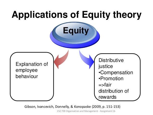 Applications of Equity theoryExplanation ofemployeebehaviourEquityDistributivejustice•Compensation•Promotion=>fairdistribu...