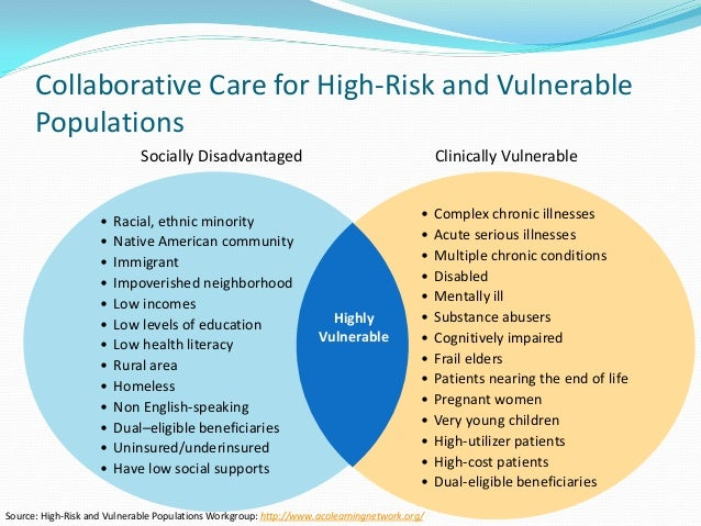 Vulnerable populations high risk mothers and infants