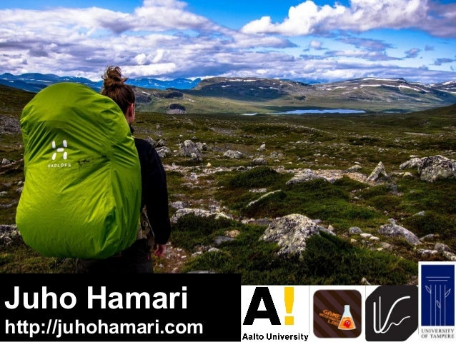 Juho Hamari  http://juhohamari.com