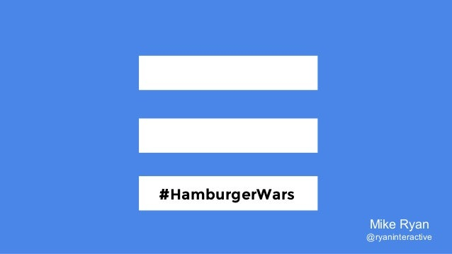 #HamburgerWars #HamburgerWars Mike Ryan @ryaninteractive
