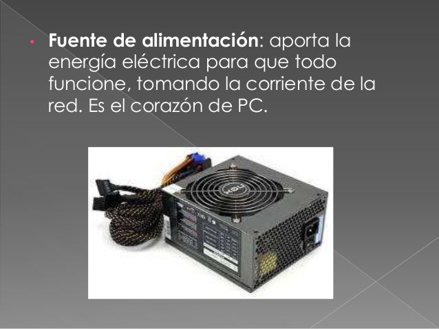• Microprocesador: se encarga de realizar los cálculos y de controlar todos lo procesos. Es la parte del celebro del PC qu...