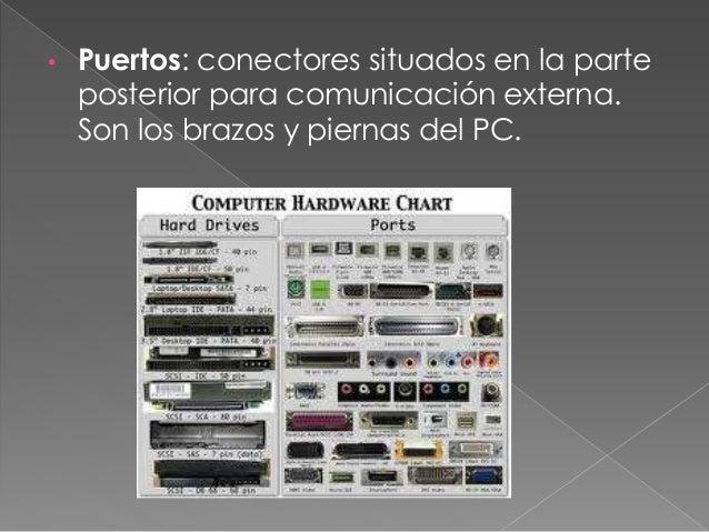 • Slots: sirven para conectar otras tarjetas, como el modem, la grafica, la de red y la de sonido.