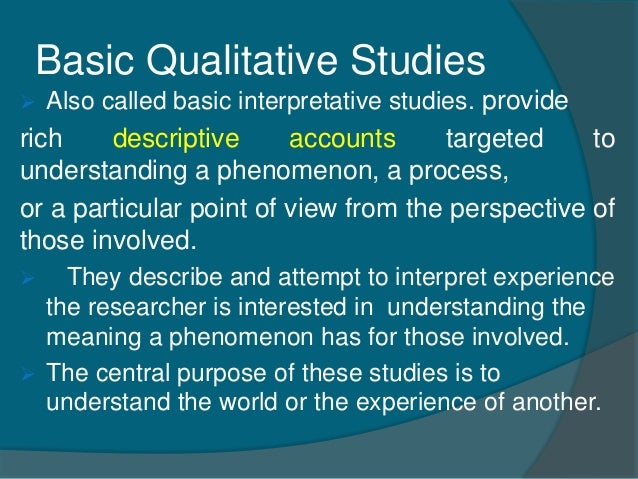 types of qualitative research studies Denzin (1978) and patton (1999) identify four types of triangulation: methods triangulation - checking out the consistency of findings generated by different data.